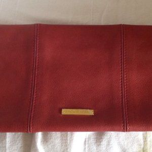 Jack Rabbit Red Leather Clutch